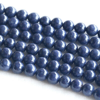Discount Wholesale Natural Genuine Blue Sapphire Round Loose Beads 4- 18mm 16