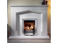 "Gallery 54"" Coniston Portuguese Limestone Fireplace (excluding fire) BRAND NEW"