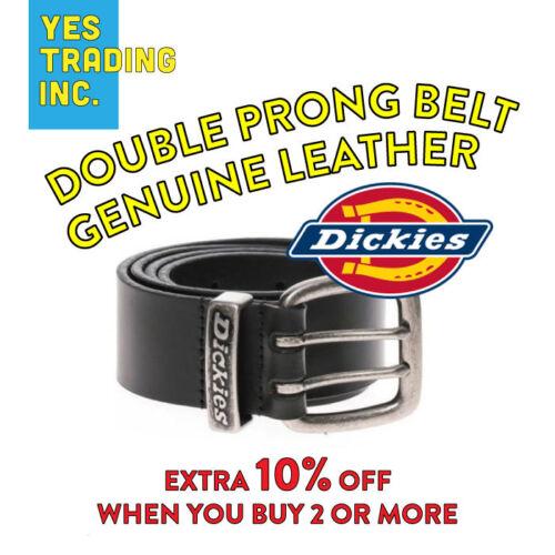 Dickies Mens Belt Black Leather Belt Genuine Two Hole Heavy-duty Work Belt