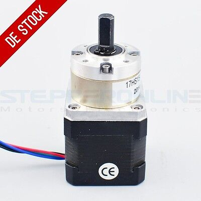 Planetengetriebe 5:1 Nema 17 Stepper Motor 1.68A Getriebemotor Robot 3D Printer