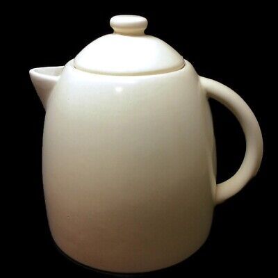 Starbucks Teapot 2011 Ceramic Coffee Server with Lid Tan Beige 25 oz