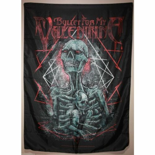 Bullet for my Valentine BFMV Skeleton Mom and Infant Cloth Fabric Poster Flag
