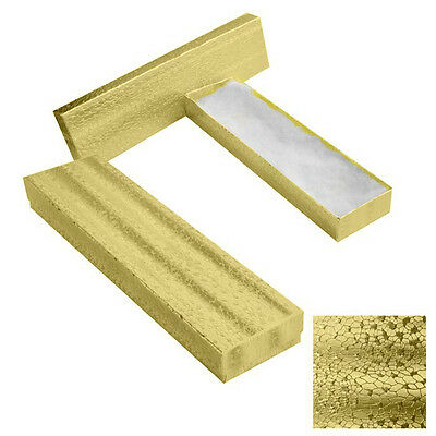New 10 Gold Cotton Filled Bracelet Earrnings Jewelry Craft Gift Boxes 8