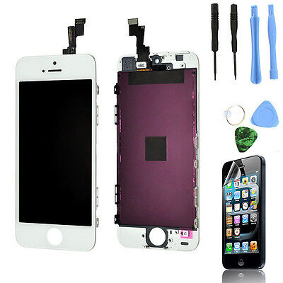 White LCD Display + Touch Screen Digitizer Assembly Replacement for iPhone 5S on Rummage