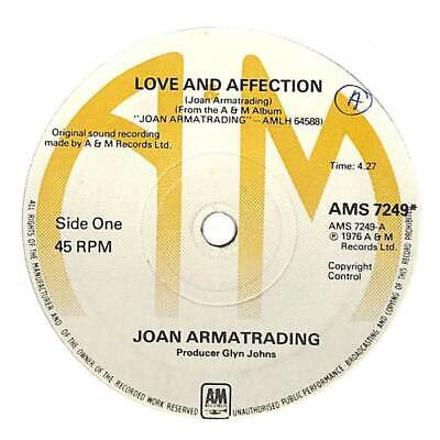"""Joan Armatrading - Love And Affection - 7"""" Record Single"""