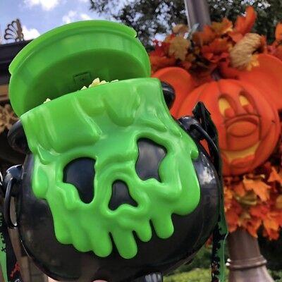 Disney Parks 2018 Halloween Poison Apple Cauldron Popcorn Bucket - Lights - Halloween Apple