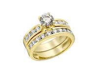 14K Gold Diamond Ring for women 14K Gold Engagement Ring Gold Diamond Wedding ring