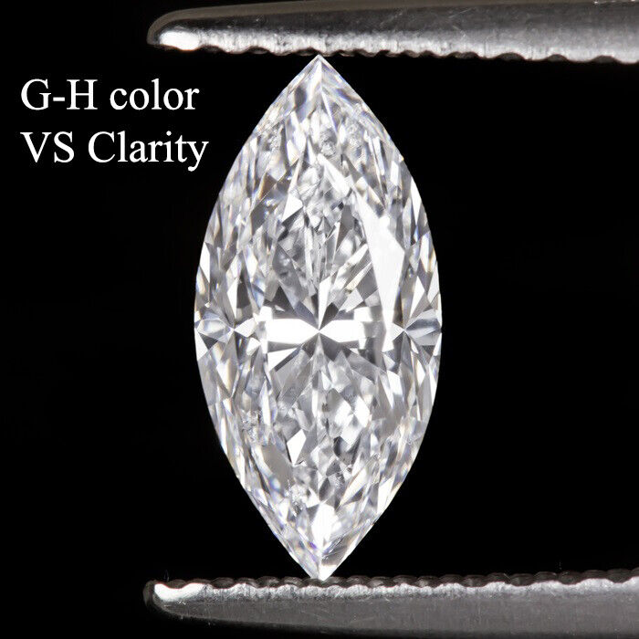 LOT Natural Finest Diamond Melee Marquise Cut - VVS2-VS1- G-H GIA Screened