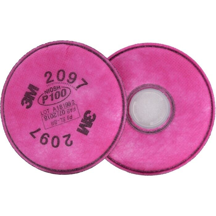 3M 2097 P100 Filter W/ Nuisance Level Organic Vapor, 1 Package Of 2 Filters Business & Industrial
