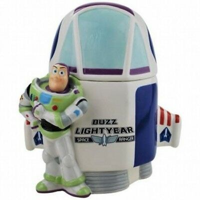 Walt Disney Toy Story Buzz Lightyear and Spaceship Ceramic Cookie Jar 2011 NEW