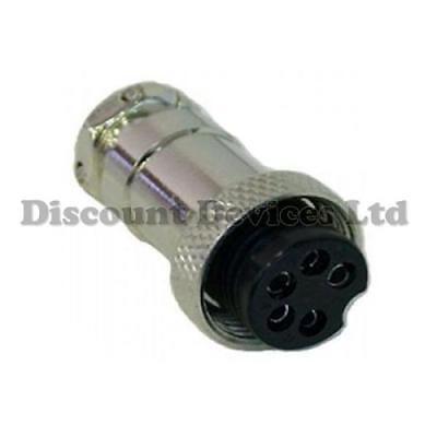 5 Pin Microphone Plug(Female) CB/Ham Radio