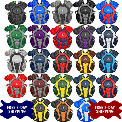"Allstar System7 Axis CC 16.5"" Adult Baseball Catcher's Chest Protector CPCC40PRO"
