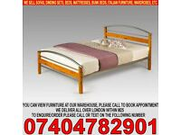 BRAND NEW 4ft6 double wooden metal bed frame