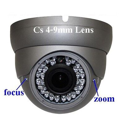 """Sunvision 960TVL In/Outdoor Metal Dome Camera CS 4-9mm 1/3"""" Sony 36 LEDs (31) (9mm Dome Camera)"""