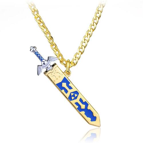 """Zelda Necklace the legend of zelda 24"""" Link Chain REMOVABLE MASTER SWORD PENDANT"""