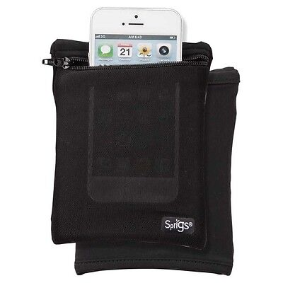 Sprigs Touch Phone Banjees Wrist Wallet/Cell Phone Carrier Black/Black