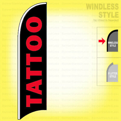 Tattoo - Windless Swooper Flag 2.5x11.5 Ft Feather Banner Sign Kb