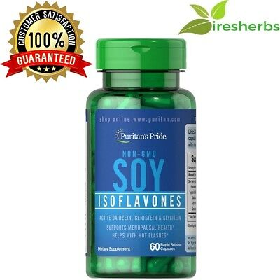 - NON-GMO SOY ISOFLAVONES 750MG WOMEN'S MENOPAUSE HEALTH SUPPLEMENT 60 CAPSULES