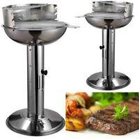 Piedistallo Acciaio Inox Barbecue Bbq Griglia A Carbone Regolabile Cucinare -  - ebay.it