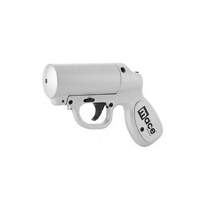 Mace Pepper Spray Gun Defense OC/ Practice Cartridge LED Silver New-M80403