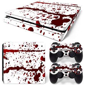 Sony-PS4-Playstation-4-Delgada-Forro-Pelicula-Protectora-De-Etiqueta-Engomada