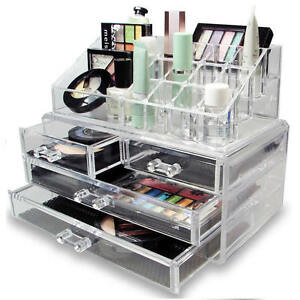 Clear Acrylic Cosmetic Organiser with Drawers Makeup Jewelry Display Box Case  sc 1 st  eBay & Makeup Organiser: Make-Up | eBay