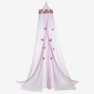 Crown Bed Canopy Princess Girl Child Pink Mesh Net & Girls Bed Canopy | eBay