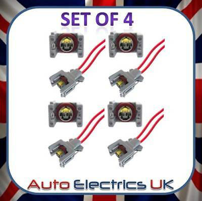 4x 2 PIN INJECTOR EXTENSION WIRING HARNESS LOOM Plug FITS MERCEDES-BENZ HYUNDAI