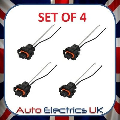 4x WIRING HARNESS CONNECTOR LOOM PIGTAIL REPAIR CABLE PLUG For Peugeot 206 307