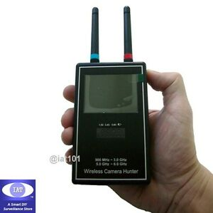 Prof-Tri-band-Wireless-Mini-SPY-Camera-Hunter-Full-Band-Video-Audio-Scanner
