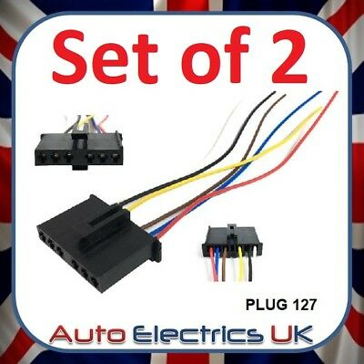2x Rear Stop Tail Light Wiring Harness Loom Repair Cable Plug for Ford Transit