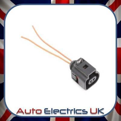 2 Pin Connector Pre Wired Plug Socket Skoda VW 1J0973702 Harness Repair