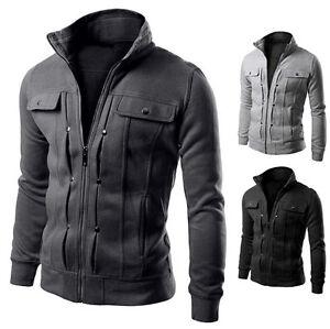 2016-Military-Mens-Boy-Hoody-Sweatshirt-Plain-Hooded-Jacket-Top-Coat-Sweatshirts