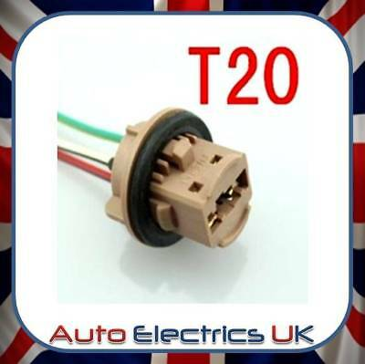 NEW T20 LED HID Reverse Stop tail brake Light Bulb Holder Connector Socket Plug