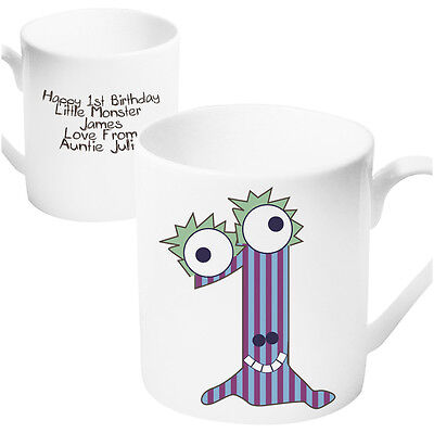 Personalised Monster Age Mug - Age 1 - 1st Birthday Gift Idea For Boys Girls  - 1st Birthday Girl Ideas