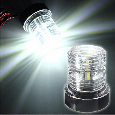 Marine Boat Yacht Stern Anchor LED Navigation Light All Round 360° White Light