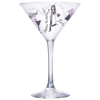 Fabulous Personalised Birthday Girl Cocktail Glass Boxed Gift For Female ()