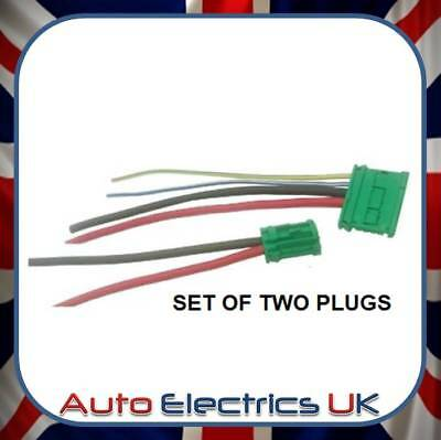 2 Plugs Wiring Harness Repair Loom For Citroen Peugeot Renault Heater resistor