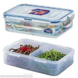 lock lock divided food storage containers ebay. Black Bedroom Furniture Sets. Home Design Ideas