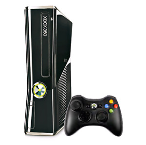 Xbox 360 Slim With Game And Controller