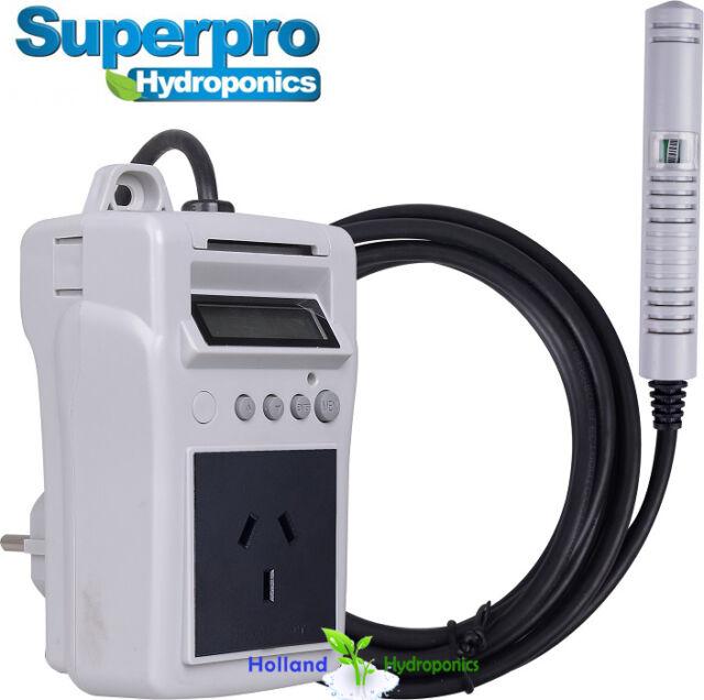 SUPERPRO D1-HUM Humidity Controller Hydroponics Grow Tent Ventilation  sc 1 st  eBay & SuperPro D1-hum Humidity Controller Hydroponics Grow Tent ...
