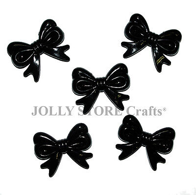 Black Bow 10pc Ties Novelty Charms Beads for crafts necklaces fun jewelry shower