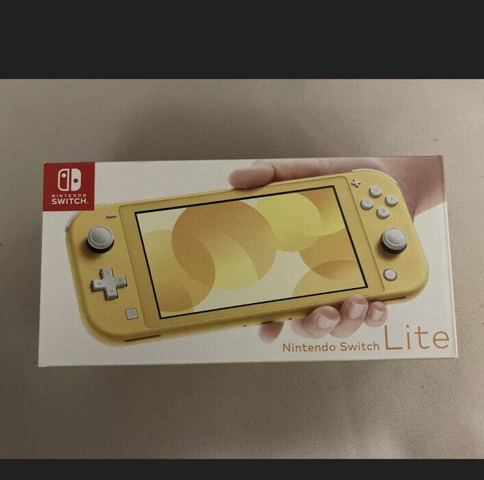 Nintendo+Switch+Lite+Console+-+Yellow+-+Brand+New