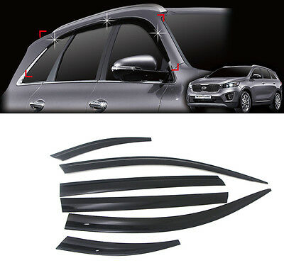 Smoke Visor Window Rain Vent Sun Guard 6p For 2016 Kia Sorento : ALL NEW SORENTO