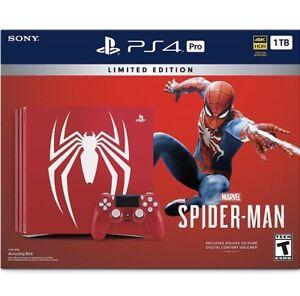 PlayStation 4 Pro 1TB Limited Edition - Marvel's Spider Man