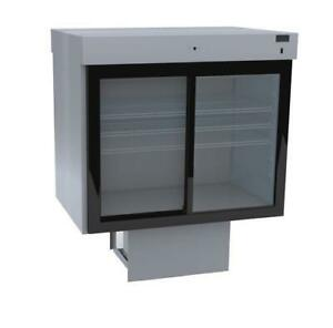 Delfield F5SC48DV 48 Drop-In Refrigerated Display Case with See-Through Back