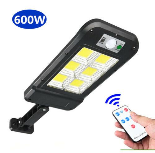 600W Solar Wall Light Motion Sensor Outdoor Garden Security Street Lamp+Remote.