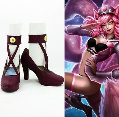 League of Legends Popstar Ahri the Nine-Tailed Fox Cosplay Schuhe Kostüme Shoes (Star Fox Cosplay Kostüm)