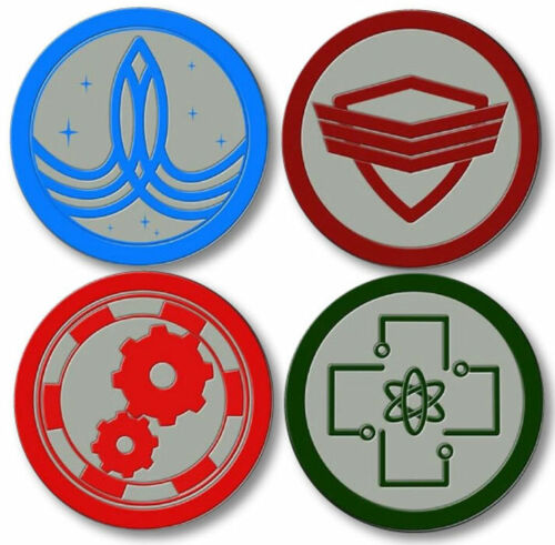 """THE ORVILLE SET OF 4 BUTTONS 3"""" SAFETY PIN BACK HALLOWEEN COSTUME COSPLAY"""
