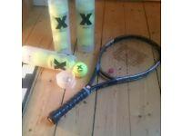 Wilson tennis racket plus tennis balls